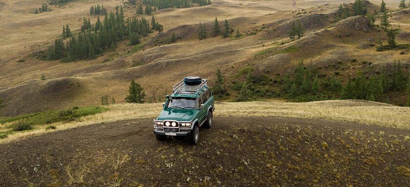 A financed car on a hill
