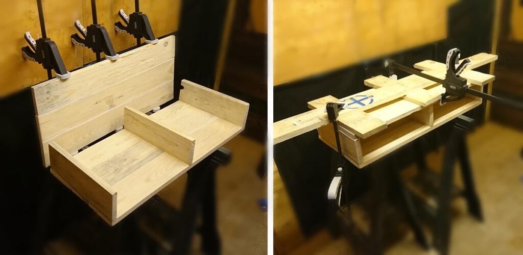 Gluing pallet wood together
