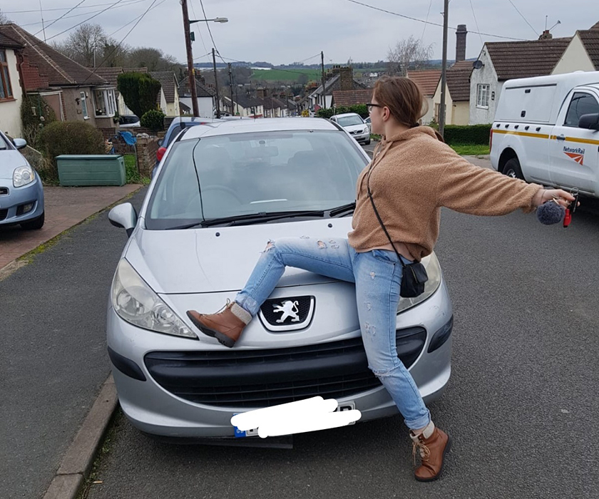 Me sitting on my first car