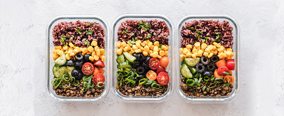Meal prep in containers