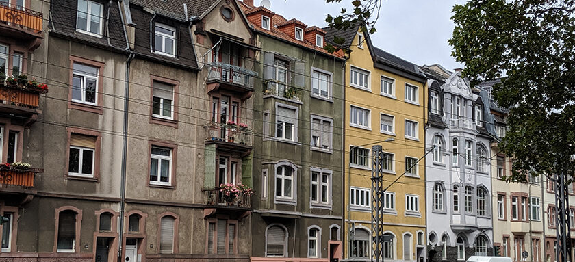 Row of rented houses