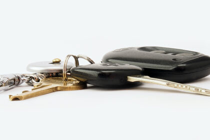 Car Keys White Background