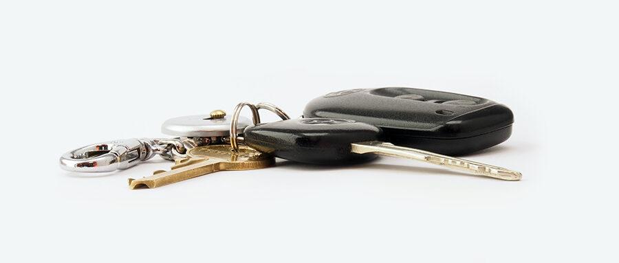 Car Keys White Background