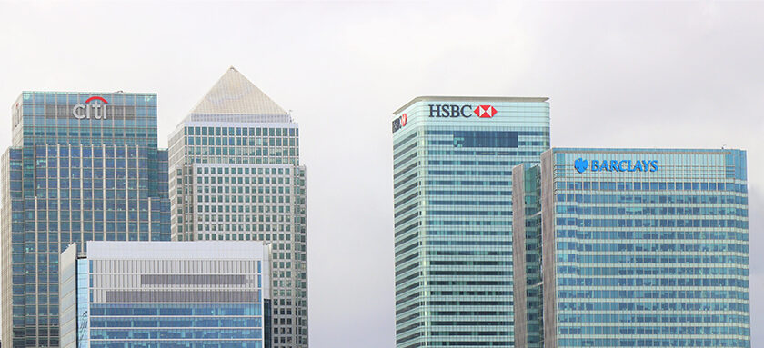 Canary Wharf Bank Skyline