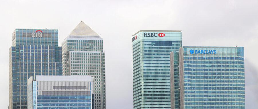 Canary Wharf Bank Skyline