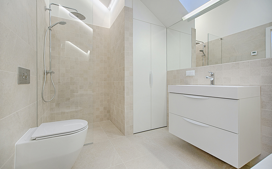 White goods bathroom renovation