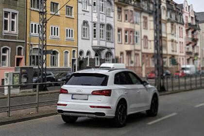 Audi Car Driving In Amsterdam