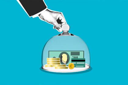 Money inside a jar