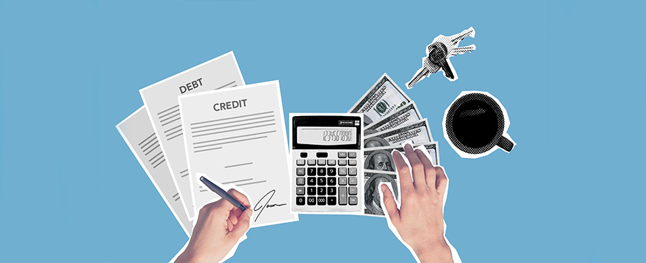 Hands signing personal loan agreement