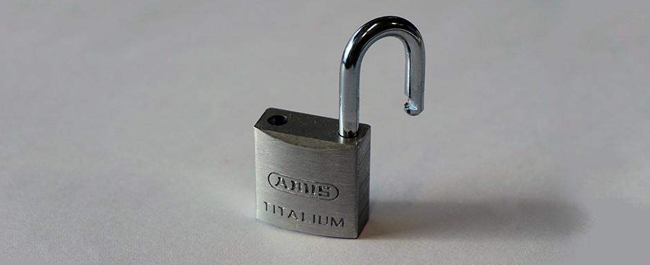 Unlocked padlock