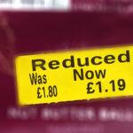 Supermarket Reduced Price Label