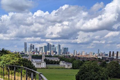 View Of UK Bank London Skyline